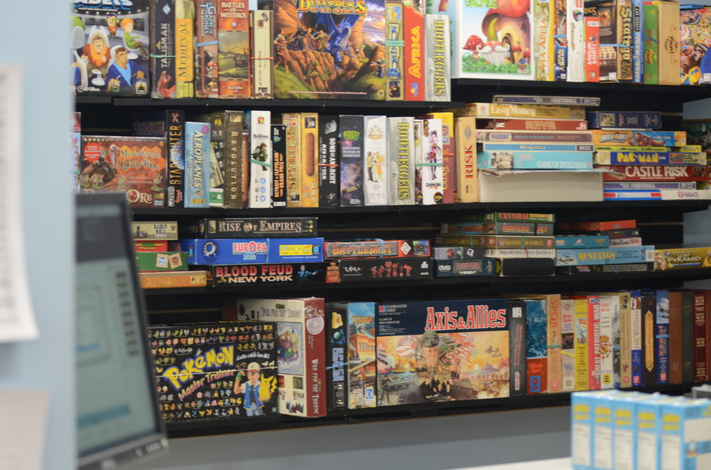 Used Board Games Section