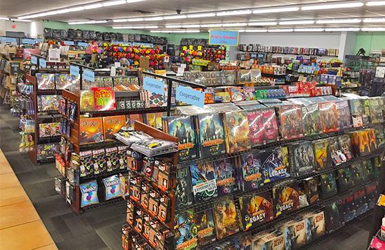 Millennium Games Rochester store shelves